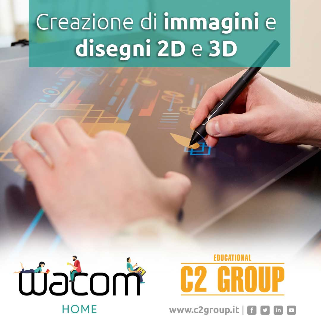 newsletter webinar disegni 2d 3d Wacom C2Group